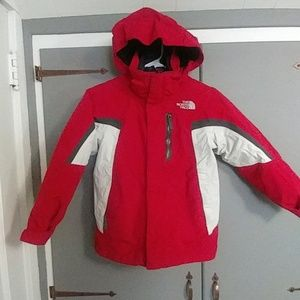 Boys North Face double layer winter coat